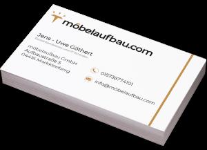 TANZER Agency - Visitenkarte Möbelaufbau.com Frontseite