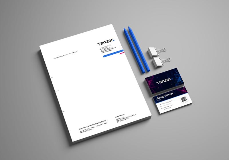 TANZER Agency - mockup Geschäftspapiere