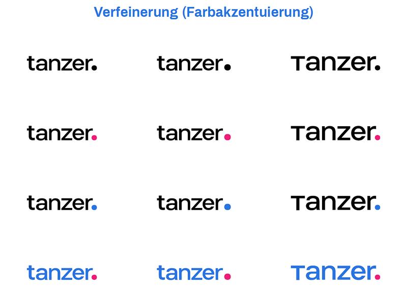TANZER Agency - Verfeinerung der Farbakzentuierung des Rebranding