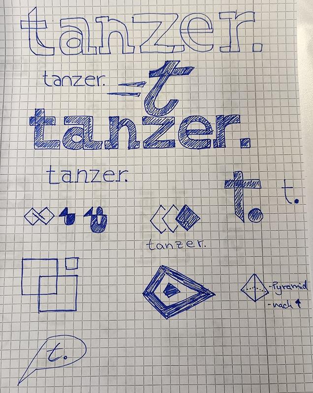 TANZER Agency - Logo Rebranding scribbles