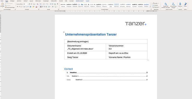 TANZER Agency - Unternehmenspräsentation